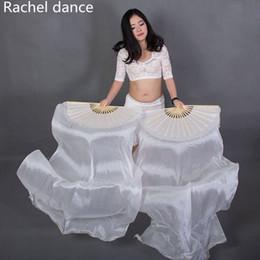 Woman Fans Australia - Belly Dance Accessories 1.2 1.5 1.8 Msilk Belly Dance fan Girls fan Women performance props A pair