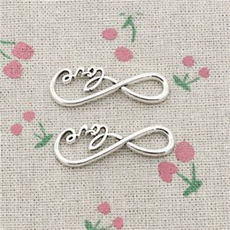 Connector Infinity Pendants NZ - 68pcs Charms infinity love connector 39*15mm Antique Silver Pendant Zinc Alloy Jewelry DIY Hand Made Bracelet Necklace Fitting