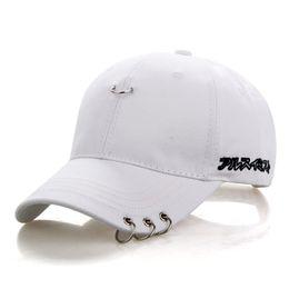 9c5c341d28fd BONJEAN Baseball Cap Safety Pin Hip Hop Strakback Snapback Hats For Men  Women Ring Hoop design Sport Casquette Gorras sun hats