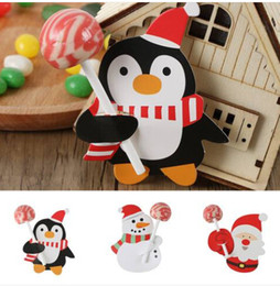 $enCountryForm.capitalKeyWord Australia - 50 Sets Christmas Papers Candy Chocolate Lollipop Santa Claus Decor Free shipping Wholesales 2019 Paper Cards