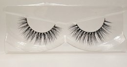 hand pack NZ - 3D Mink False Eyelashes 100% Mink Fur Long Thick Hand-made Reusable Eyelashes Natural 1 Pair Pack MTL064