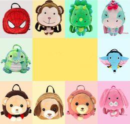 ElEphants baby online shopping - 11styles kids anti lost cartoon school bag Toddler baby Shoulder Bag cute Elephant Dinosaur unicorn Backpack FFA893