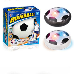 Wholesale Lights up Air Cushion Football Disc LED Children Floating Ball Toy Outdoor Hover Air Suspended Football Soccer Indoor Sports Inutdoor Games