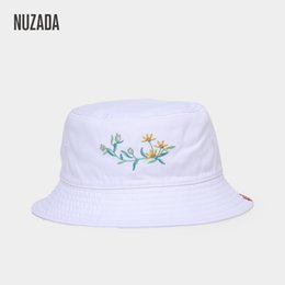 081e9509804 NUZADA Embroidered Fisherman Hats Ladies Girl Women Bucket Hat Caps Summer  Autumn Spring Cap Cotton Double Layer Can Be Worn