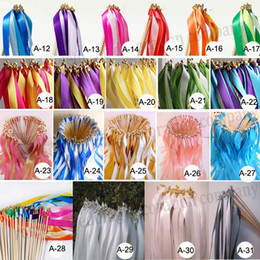 $enCountryForm.capitalKeyWord NZ - (50Pieces Lot) Custom Colors,Custom Styles Wedding Ribbon Wands Stick Ribbon Streamers With Bell