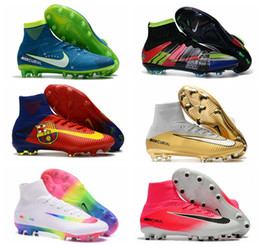 Discount cr7 new soccer boots - 2018 New Mens Kids Soccer Shoes Mercurial CR7 Superfly V FG Boys Football Boots Magista Obra 2 Women Youth Soccer Cleats