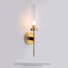 Contemporary Hallways Light Australia - Modern Copper Wall Lamp Hallway Wall light 1 2heads Wall light Bedroom home lighting Metal Rustic Light Sconce Fixtures F051