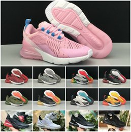 Off bOy online shopping - 2018 Chaussures Maxes Kids Shoes Sports Running Infant Air270 boys girls Off Black White Red Blue Designer Run plus TN OG Sneakers