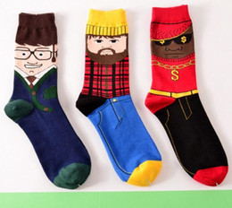a133ab7ce5b New style long tube Crew socks for men super cool 3D cartoon socks Original  brand comfortable breathable cotton socks cheap sale