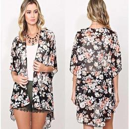 d09e30d86ac 2018 Ethinc Women Summer Shirt Vintage Floral Print Blouses Casual Hippie  Boho Kimono Cardigan Ladies Long Blusas Tops
