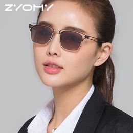 0b4f24b1d7be9 Oculos de sol Colorful Lenses Glasses Brand Designer Unique Polarized Men  Shades Hollow Out Frame Women Sunglasses UV400 2018