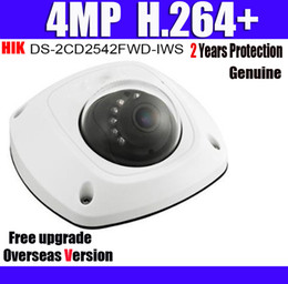 Wholesale DS CD2542FWD IWS MP POE IP67 IK08 WDR Mini Dome CCTV IP Camera SD Card Slot Built in microphone Network Camera with Logo