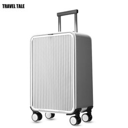 "$enCountryForm.capitalKeyWord Australia - TRAVEL TALE 20"" 24"" inch aluminium suitcase TAS LOCK 100% spinner business trolley luggage bag on wheel"