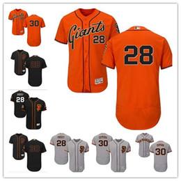 f2b05b2fb custom Men women youth SF Giants Jersey #28 Buster Posey 30 Orlando Cepeda  Orange Grey White Kids Girls Baseball Jerseys