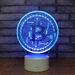 $enCountryForm.capitalKeyWord Australia - Bitcoin Symbol 3D Illusion light Lamp 5th Battery Bin USB Powered 7 RGB Light DC 5V Wholesale Free Shipping
