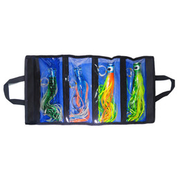 Game Hooks Australia - 11.5 inch Trolling lures octopus Skirt marlin Big Game fishing lures steel hook portable Washable lure bag DHL free shipping hot