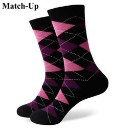 $enCountryForm.capitalKeyWord NZ - 2016 new men colorful combed cotton socks Diamond styles,geometric socks,US size(7.5-12) 339