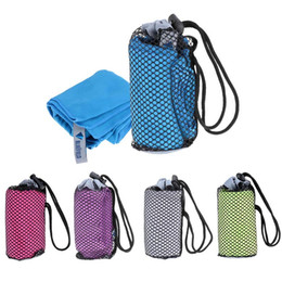 Wholesale Sports Towel With Bag x mm Portable Microfiber Bluefield Quick Dry Towel Washcloth Outdoor Spor Swimming Travel Gym Towel