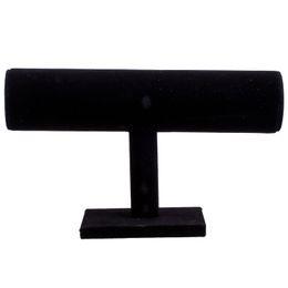 $enCountryForm.capitalKeyWord UK - YCYS-Black Velvet Bangle Bracelet Jewelry Chain Watch T-Bar Display Stand Holder Rack