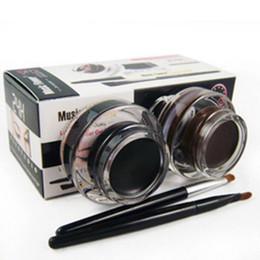 $enCountryForm.capitalKeyWord Australia - 2 in 1 Brown + Black Gel Eyeliner Make Up Water-proof And Smudge-proof Cosmetics Set Eye Liner Kit in Eye Liner Makeup