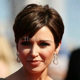 best cheap brazilian hair Canada - New Arrival Top Quality Cheap Pixie Cut Short glueless lace front human hair wigs for african americans Best human brazilian hair wigs