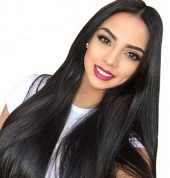 natural hairline full lace wigs NZ - Full Lace Human Hair Wigs for Black Women Glueless Peruvian Straight Lace Front Wig Bleached Knots Natural Hairline