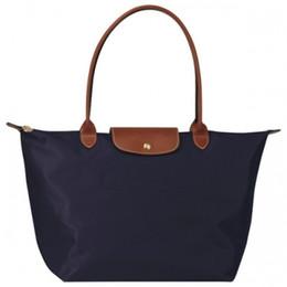 $enCountryForm.capitalKeyWord UK - Cheap Women's Stylish Waterproof Nylon Shoulder Beach Bag Sale Drawstring Large bags Long Handle Folding Tote Black Red Orange Peach Handbag