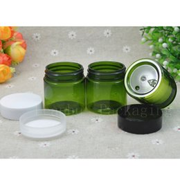 Green Plastic Jars Australia - Green Plastic Cream Jar,30CC Cosmetic Refillable Makeup Mini Sample Containers,Cosmetic Skin Products Container,Wholesale 50PC