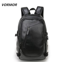 854d66c05a23 2017 VORMOR Brand waterproof 15.6 inch laptop backpack men leather backpacks  for teenager Men Casual Daypacks mochila male
