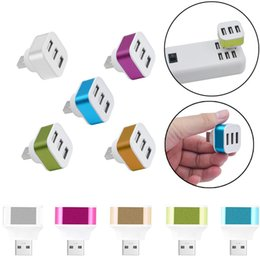 Pc Expansion Port Australia - New High Quality 3 Port USB 2.0 Car Charger Rotate HUB Splitter Adapter For PC Desktop Notebook Expansion
