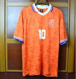 94 96 Retro Soccer Jersey Netherlands Bergkamp 1994 1996 2000 home away Football  Shirts Voetbal Holland Seedorf Orange Uniforms e17c05ef9