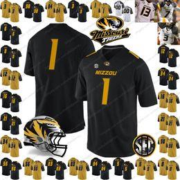 Custom Mizzou Missouri Tigers College Football Jerseys Any Name Number  3  Drew Lock 34 Larry Rountree III yellow black white gold S-4XL b067f9c27