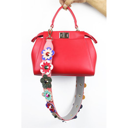 a1265577efed 2018 Hot 90cm Colorful Flower Replacement Shoulder Bag Straps PU Leather  Purse Handles for Handbags Belt Bag Accessories 924