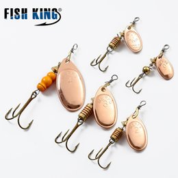 Discount fishing spinners - Lures FISH KING Mepps 1PC Size1-Size4 Hook Mepps Spinner Fishing Lures With Knife-edged Treble Hooks Bulk Fishing Tackle