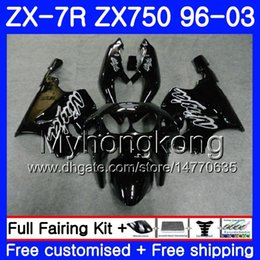 1999 Kawasaki Zx7r NZ - Gloss black full Body For KAWASAKI NINJA ZX 7R ZX750 ZX7R 96 97 98 99 203HM.24 ZX-750 ZX 7 R ZX 750 ZX-7R 1996 1997 1998 1999 2003 Fairing