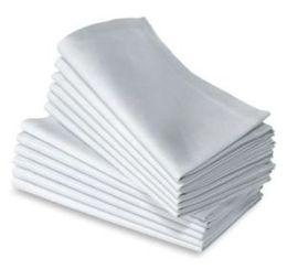 Guardanapo 100% ALGODÃO branco liso 50cm * 50cm venda por atacado