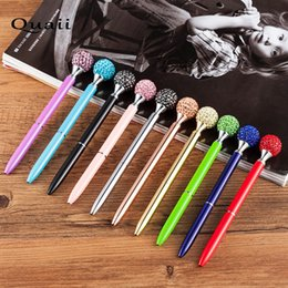 $enCountryForm.capitalKeyWord Australia - QUAII Crystal Ballpen Diamond Ballpoint Pens For School Office Stationery writing supplies signature pen material escolar caneta