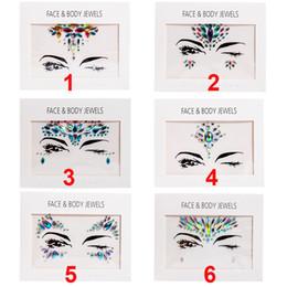 New Handpicked Bohemia Estilo Tribal 3D Etiqueta de Cristal Rosto E Olho Jóias Testa Decoração Temporária Etiqueta Do Tatuagem Temporária
