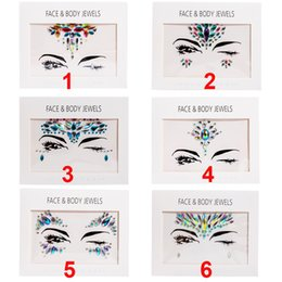 Wholesale New Handpicked Bohemia Tribal Style D Crystal Sticker Face And Eye Jewels Forehead Stage Decor Temporary Tattoo Sticker