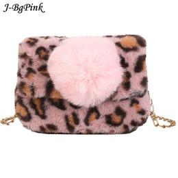 a6a1e85afa Woman Party Small Girls Tote Bag Christmas Gift Women s Winter Faux Fur Bag  Fashion Handbag Shoulder lady Leopard print Bags