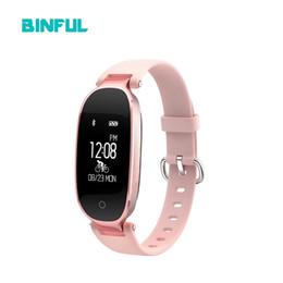 Discount girls smart watches - BINFUL S3 Fashion Smart Wristband Women Girl Heart Rate Monitor Bracelet Pedometer Fitness Tracker Lady Smart Watch