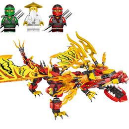 Новый Ninjagoe Phantom Золотой Mecha Дракон рыцарь серии строительные блоки совместимые Legoings кирпичи модель игрушки для детей