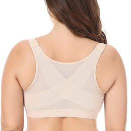 d0844a4e665 34 36 38 40 B C D DD BAICLOTHING Women s Front Closure Full Coverage  Non-padded Underwear Back Support Posture Wire Fress Bra