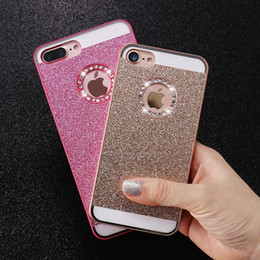 Wholesale Glitter Products Australia - New Trend Product Cute Bling Phone Case For Apple iPhone 7 Plus Cover Glitter Women
