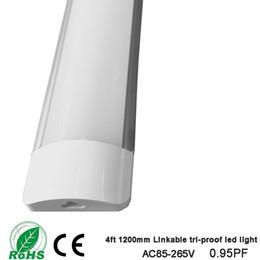 Neuer Stil. Led tri-proof licht Linkable Led Tube Led Lineares licht 4ft 1200mm 36 Watt 110 v 220 v Halterung Lampe im Angebot