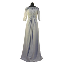 e703598bd4f9 2018 Ghands JJShouse Chiffon A-line Long Sleeves Beading Floor-Length  Formal Gowns Wedding Guest Mother of The Bride Custom size Dresses