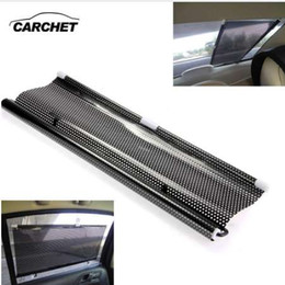 front windshield sun shade Canada - CARCHET Car Sun Shade Shield Visor Window Retractable Black 50x125cm Universal Windshield Sunshades