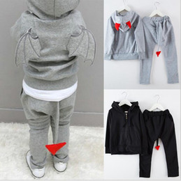 7ec7a0a4276c7 Baby Tracksuit Boy Girl Casual 3D Wings Sweat Suit Toddler Autumn Long  Sleeve Hoodie Pants 2 Pieces Outfits Kids Designer Clothes YL622