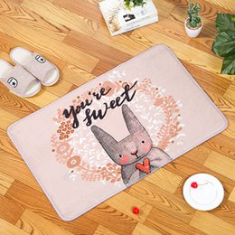 kitchen floor mats rugs NZ - Bathroom Carpet Ins Style Floor Mats Doormat Water Bedroom Lovable Rugs Bath Room Carpet Set Shower Mat Non Slip Mat For Kitchen badematte