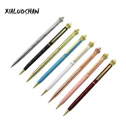 crown pen stationery 2019 - 1 Pc Metal Crown Ballpoint pen Fashion Black Ink Ballpoint Pens Gift Pens For Office Tools School Stationery discount cr